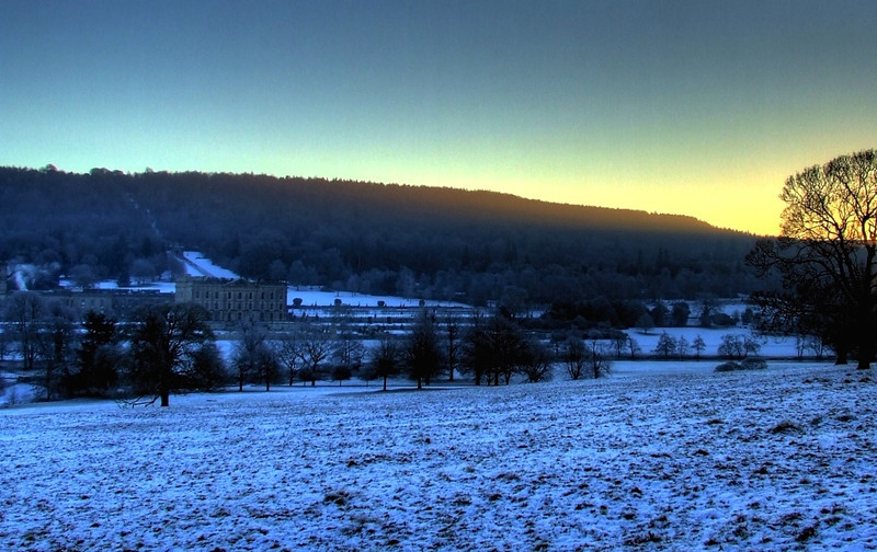winter falls upon Pemberley