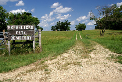Entrance to Republican City Cemetery southwest of Clay Center