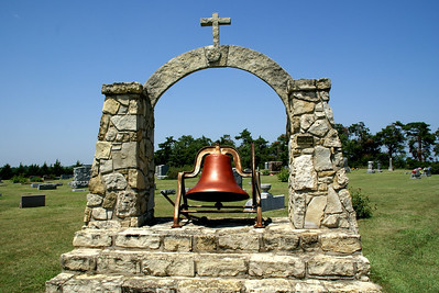 Church bell from the Methodist Church at Mizpah Cemetery west of Wakefield