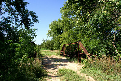 West Fancy Creek pony truss bridge - northeast Clay County