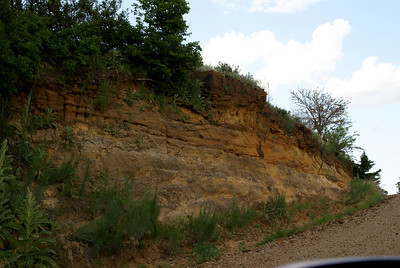 Exposed sandstone face near Republican River - northwest Clay County