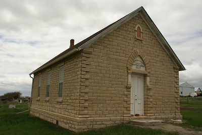 Historic Scandanavian Saron Baptist church northwest Cloud County Kansas