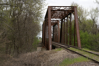 Kyle Railways iron truss bridge over Republican River northern Cloud County, Kansas