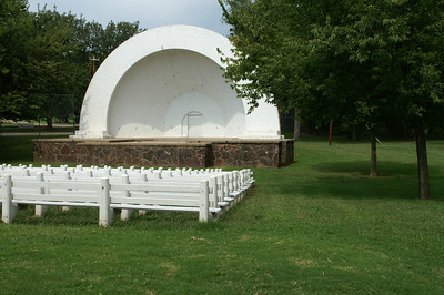 WPA bandshell in Tootle Park in Miltonvale