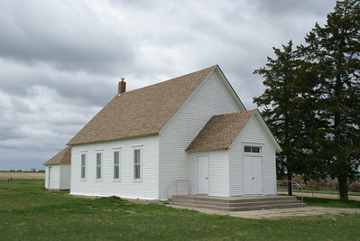 Historic Danish Lutheran church northwest Cloud County Kansas