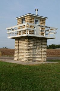 Stone guard tower at former WWII POW Camp Concordia - Cloud County.