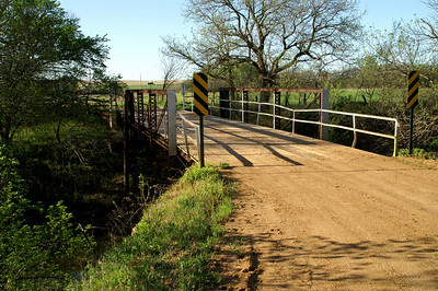 Mulberry Creek pony truss bridge -  at exact northeast corner of Ellsworth County