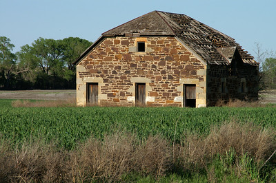 Limestone barn - northeast Ellsworth County