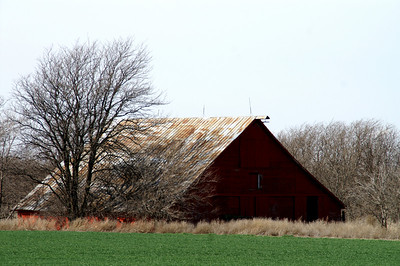 Top half of red barn