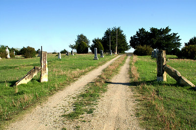 Prairie Mound Cemetery - Ellsworth / Lincoln county line