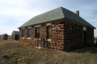 Liberty No 44 Stone School (1910) in western Ellsworth County