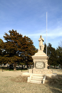 Civil War Veterans Memorial in Wilson Cemetery