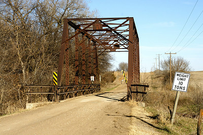 Thru truss bridge over White Rock Creek near Lovewell
