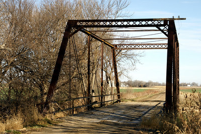 Thru iron truss bridge over Buffalo Creek near Randall