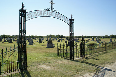 St Boniface Cemetery at edge of Tipton