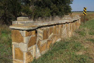 Stone bridge over Fifth Creek - southern Mitchell County