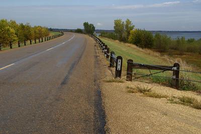 Road along Waconda Lake