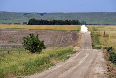 Approaching Union Cemetery in eastern Osborne County