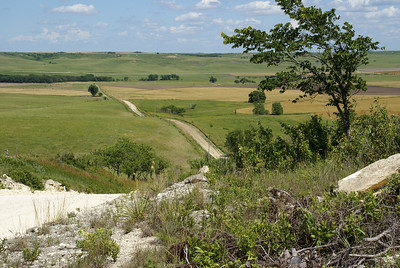 Twin Creek Scenic Backway. View east into Cheyenne Gap and Twin Creek valley.