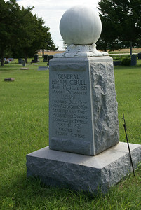 Hiram C. Bull grave. Founder of Bull City (now Alton). Killed by pet elk.