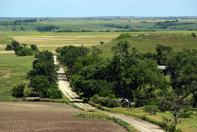 Twin Creek Scenic Backway. View east off Sand Mound. South Mound visible on right.