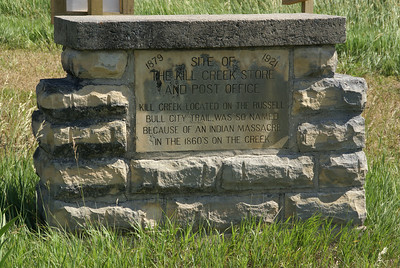 "Kill Creek monument. Start of ""Rediscovering Sod-House Days"" tour."