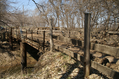 Old truss bridge over Coal Creek near Verdi