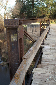 Old wood plank bridge over Middle Pipe Creek - northern Ottawa County