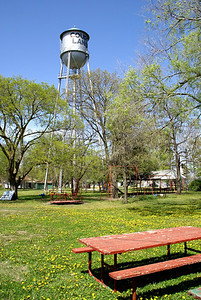 City park and water tower - Courtland, Republic County, Kansas