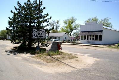 Main Street in Norway, Republic County, Kansas