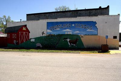 Town mural - Courtland, Republic County, Kansas