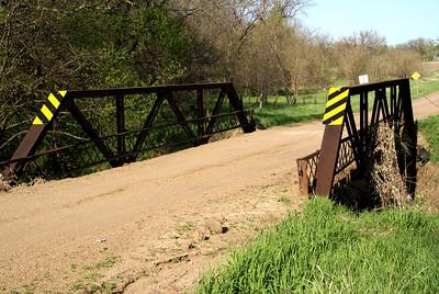 Elk Creek pony truss bridge near Agenda, Republic County Kansas