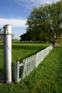 Fence around Stephenson Cemetery - northern Republic County Kansas