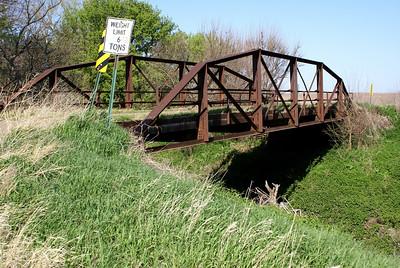 Salt Creek Pony Truss bridge southern Republic County