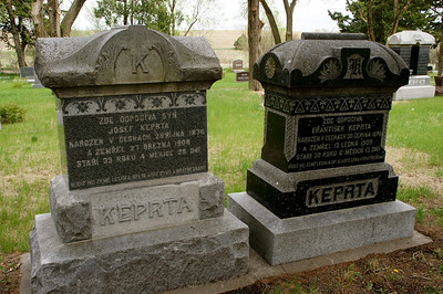 Tombstones at National Bohemian Cemetery near Cuba