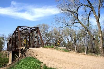 Republican River iron truss river near the town of Republic, Republic County Kansas