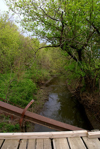 West Creek seen from truss bridge southern Republic County Kansas