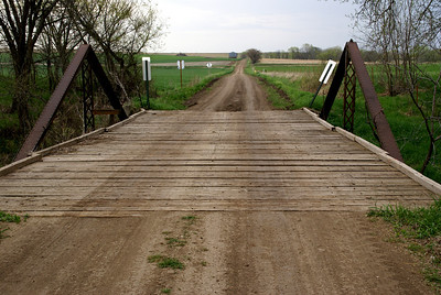 West Creek Kingpost truss bridge south of Belleville, Republic County Kansas