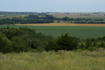 View of Dorrance across the Smoky Hill River valley south of town