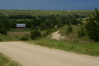 Paradise Creek valley along US-281 - northern Russell County