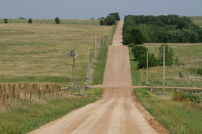 Dirt road thru the Smoky Hills - Northern Saline County