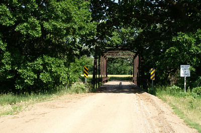 Saline River iron truss bridge on Saline / Ottawa county border