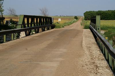Gypsum Creek pony truss bridge eastern Saline County