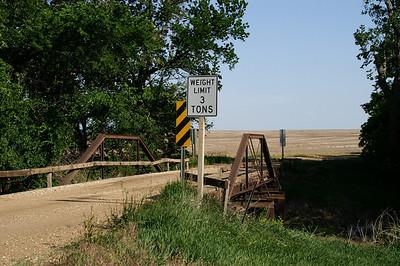 West Branch Gypsum Creek pony truss bridge near Kipp