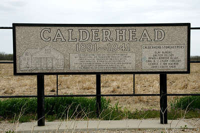 Monument at former site of Calderhead, known for it's general store