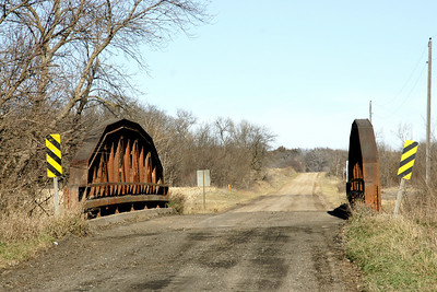 Pony truss bridge over Peats Creek south of Palmer