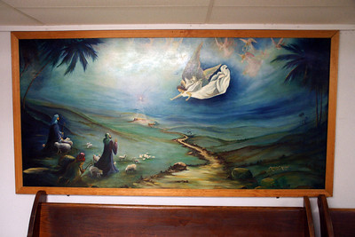Artwork in Larkinburg Christian Church