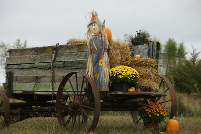 Fall decorations at a farm in northern Atchison County