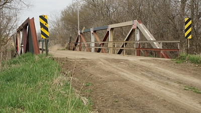 Pony truss bridge over South Fork Wolf River - southeast Brown County
