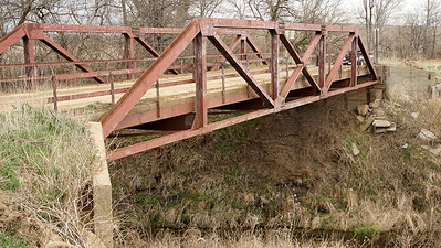 Roy's Creek pony truss bridge - northeast Brown County